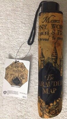 Harry Potter The Marauder's Map Collapsable Umbrella New
