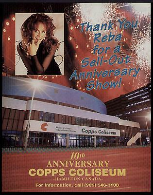 1995 REBA McINTYRE SOLD OUT COBBS COLISEUM SHOW  AD