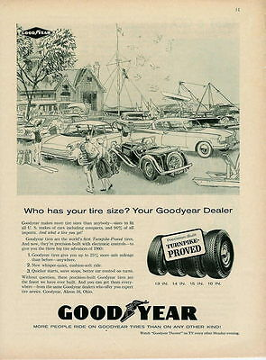 1960 Who Has Your Tire Size? Goodyear Art Ad