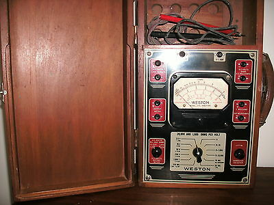 Vintage: Weston Electrical Instrument Analog Multimeter  #772 FREE SHIPPING