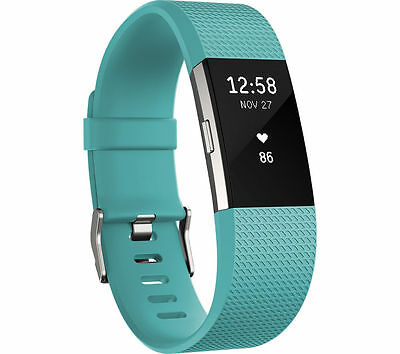 Fitbit Charge 2 Heart Rate + Fitness Wrist Band Teal/Small