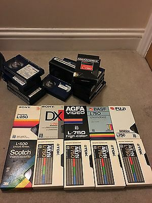 Betamax Tapes Containing Programmes And Adverts From The 80s/ 90s