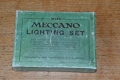 Vintage Meccano replica lighting set with some contents
