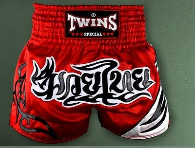 Twins Special Boxing Shorts Size M Red Black White 2017