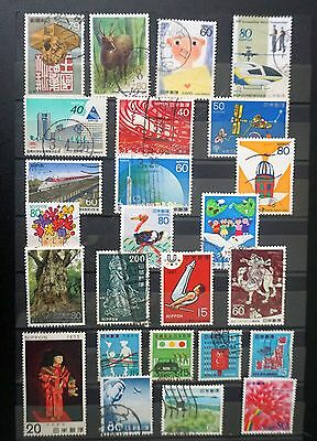 JAPAN   GREAT LOT of 25 COMMEMORATIVE STAMPS used   Lot #1