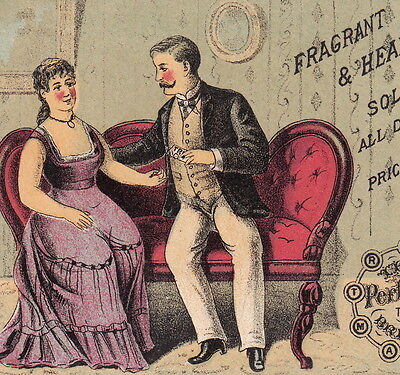 Antique Trix Bad Breath Cure Mouth Perfume Love Courtship Advertising Trade Card
