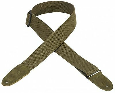 """Levy's MC8-GRN 2"""" cotton guitar strap with suede ends - Green"""