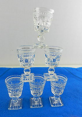 """Imperial Glass CAPE COD Wine Goblet Glasses 3.5"""" Set of Six"""