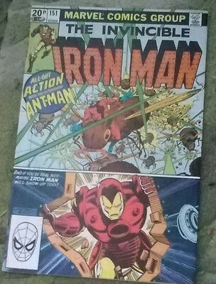 marvel comics-the invincible iron man no151 oct 1981 vf-/vf grade bagged boarded