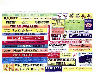 Langley Models Garage Signs large Paper Copies Old Enamel Decals O Scale SMFlrg1