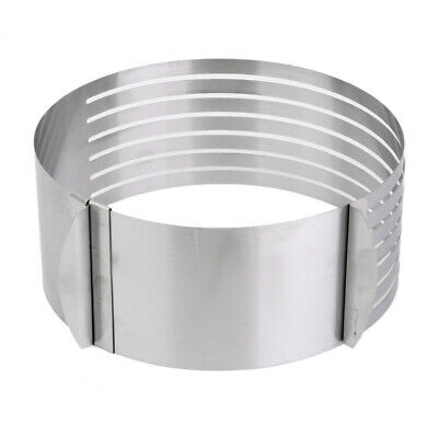Adjustable Stainless Steel Mousse Layer Cake Mold Baking Ring Cutter Slicer