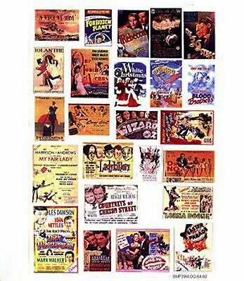 Cinema Theatre adverts lge Paper Reproductions Old Enamel Decals O Scale SMF38