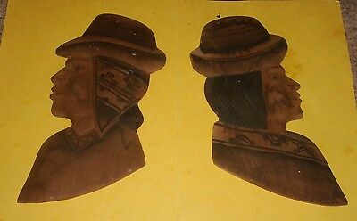 Wooden Carved Faces  -  Peru  -  Wall Hangings  -  Ethnic