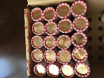2017 p lincoln penny roll new first minted p on cent 20 rolls