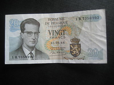 Belgium 1964-66 Issue - P138 - 20 Francs 15.06.64 - Very Fine Circulated