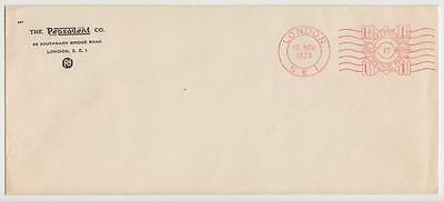 Gb 1924 Meter Mail Cover London Pitney Bowes Meter Mail Specimen, Pepsodent