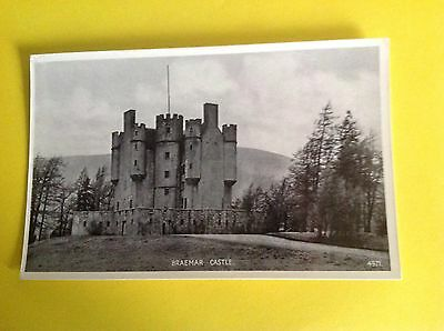 Vintage Postcard Of Braemar Castle Scotland