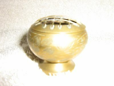 Miniature Brass Flower bowl with Grid