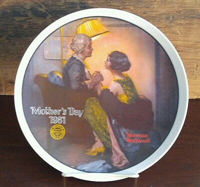 "Edwin Knowles Norman Rockwell Plate Mother's Day 1981 ""After the Party"" / Box 72"