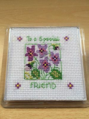Hand stitched special friend coaster