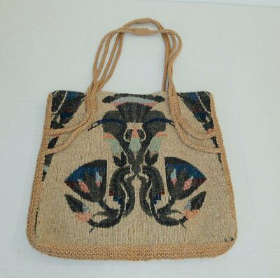 Vintage Carpetbags of America Woven Fabric Bag Gorgeous Pattern! Super Clean! NR