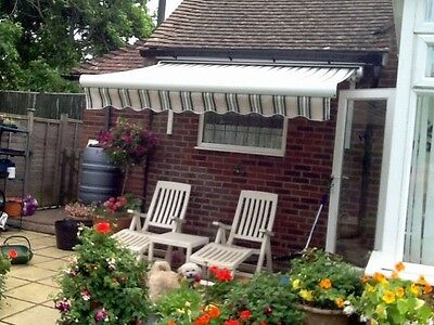 "2.5m (8ft 2"") wide x 2m patio/garden sun awning"