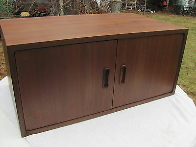 """(1) One George Nelson for OMNI 2 Door 14"""" Tall Cabinet not CSS for Herman Miller"""