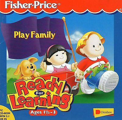 Fisher Price Ready For Learning  Play Famiy Age 1.5 To 3 Year Windows 95, 98, Xp