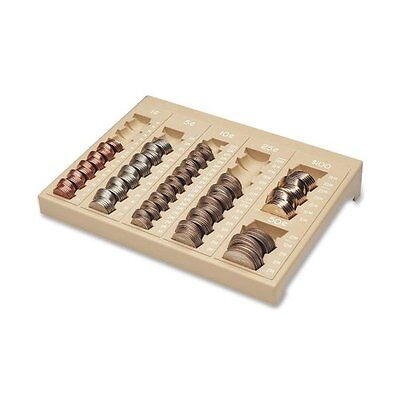 MMF Industries Countex II One-Piece Coin Organizing Tray, Sand (221611003)