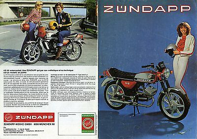 Catalogue Zundapp KS 50 , KS 125 , GTS 50 ,  ZD 40