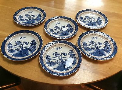 Booths Real Old Willow Side Plates x 6 - Stunning!