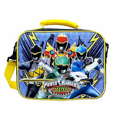 """Power Rangers Blue 9.5"""" Insulated Lunch Bag Lunchbox-Brand New!"""