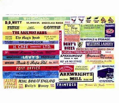 Langley Models Shop pub signs Sml Paper Copies of old Enamel Signs N Scale SMFty