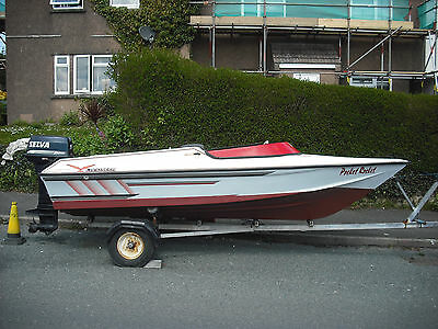 landseer speed boat with engine /trailer /cover