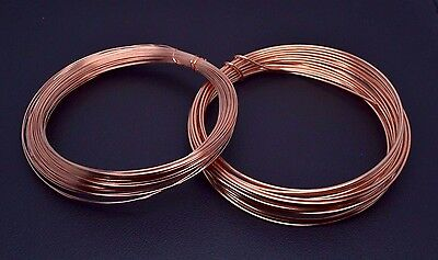 Solid Bare Copper Round Wire - 0.4mm - 1mm Jewellery Making Unplated Wire Craft