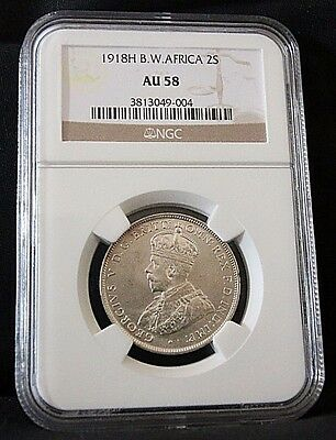1918H AU58 British West Africa 2 Shillings (NGC Certified)