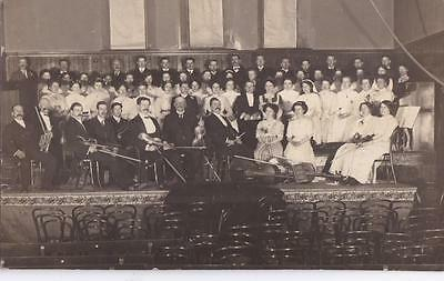 RP LANARK CHORAL CHOIR UNION MEMBERS ORCHESTRA REAL PHOTO c1913