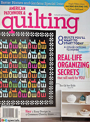 AMERICAN PATCHWORK and QUILTING Magazine Feb 2017 - Machine Quilting Tips + More