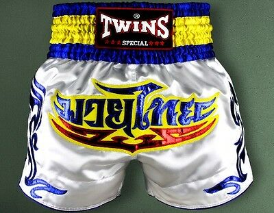 Twins Special Boxing Shorts Size L Blue White 2017