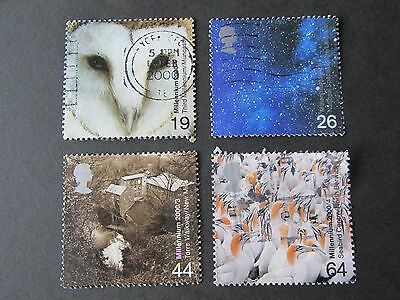 "Set of 4 used GB Stamps "" Above and Beyond "" issued 18 January 2000"