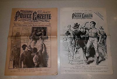 The Police Gazette & Sporting Journal no.35 1897 inc poster supplement boxing