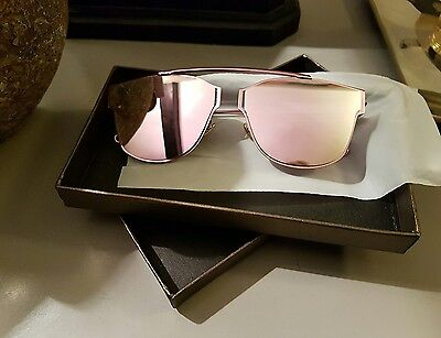 Rose Gold Mirrored Sunglasses UV400