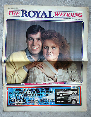 """1986 Coventry Evening Telegraph Extra """"The Royal Wedding"""""""