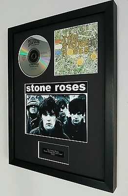 The Stone Roses Framed Original CD- Plaque-Certificate-Ian Brown