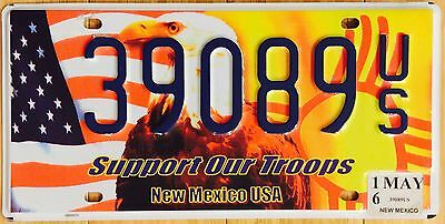 New Mexico Support Our Troops License Plate # 39089 US