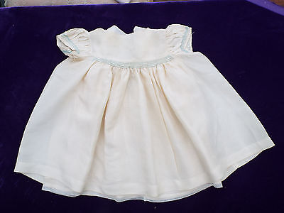 Smocked Silk Vintage Baby Dress With Underskirt