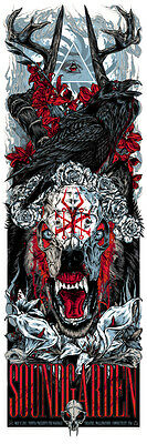 Soundgarden Wallingford CT Poster Art Print by Rhys Cooper 2013 signed numbered