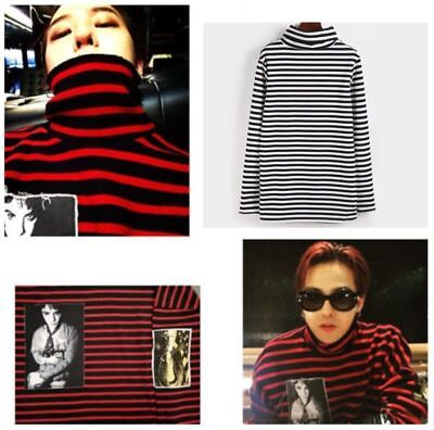 Kpop Bigbang G-Dragon Sweater Unisex BTS SUGA Hoodie Bangtan High Collar T-shirt