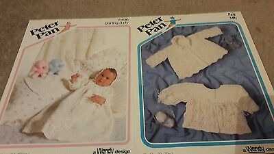 Vintage knitting patterns, baby clothes