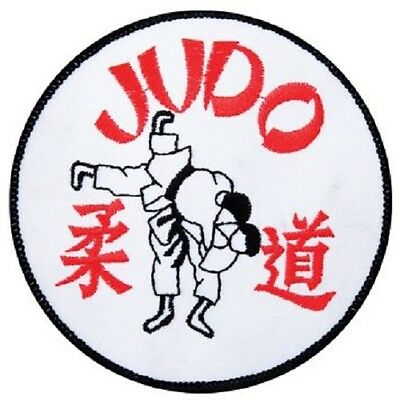 Embroidered Badge - Judo Throw (White)